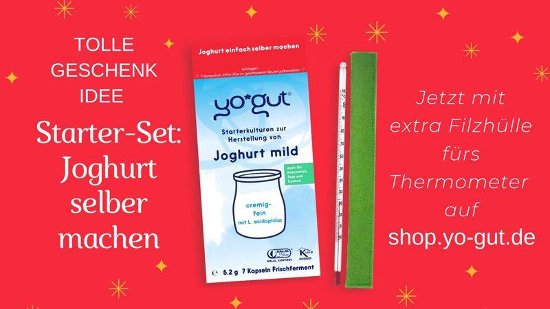 Geschenkidee Weihnachten Starterset YOGUT Joghurtkulturen