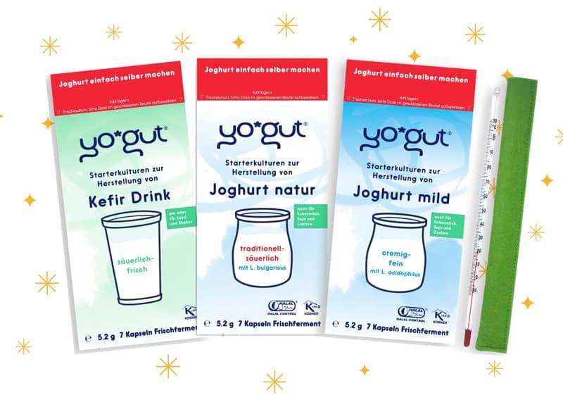 Starter Set YOGUT Joghurtkulturen Geschenkidee für Weihnachten Joghurt einfach selber machen