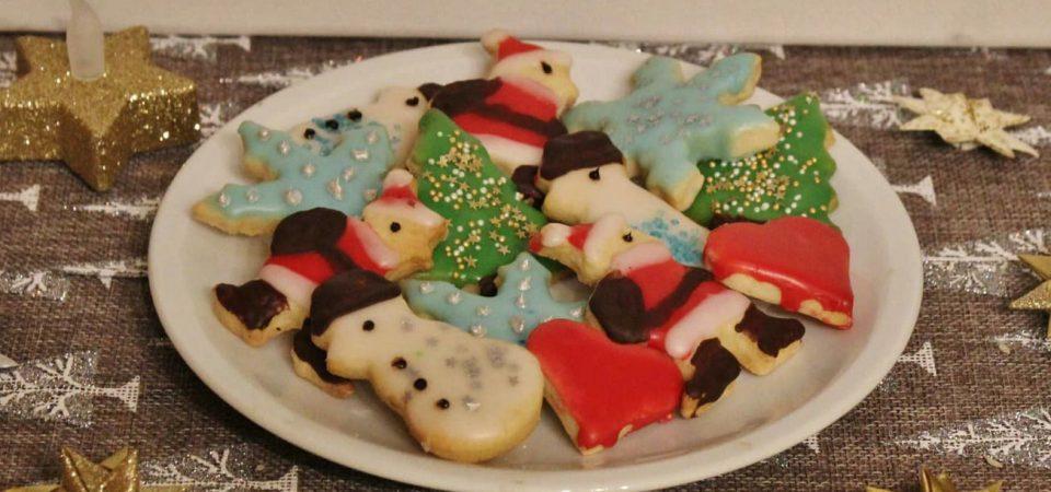 unterschiedliche Weihnachtskekse