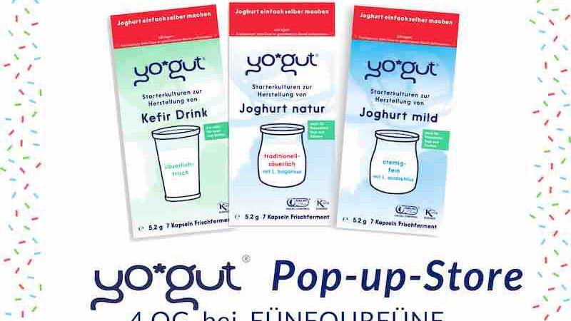 Pop up Store Werbung YOGUT Starterkulturen in Bremen