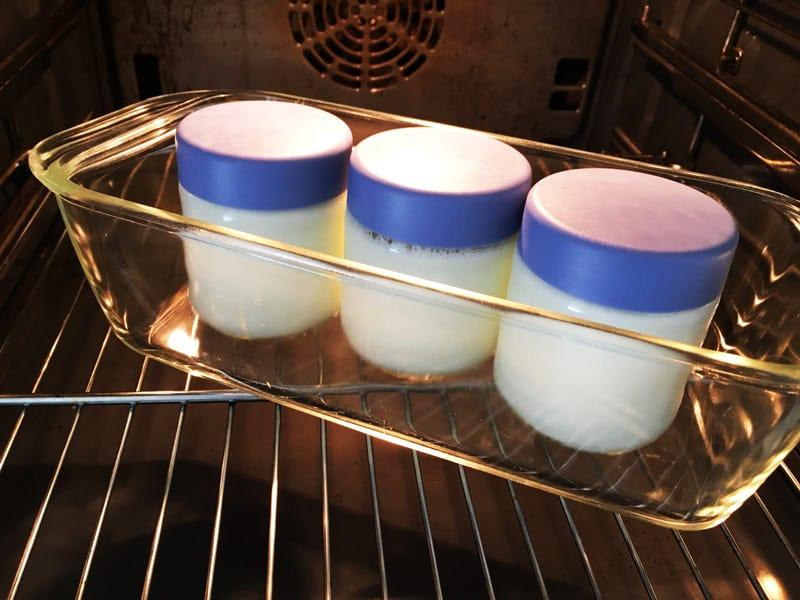 Backofen als elektrischer Joghurtbereiter