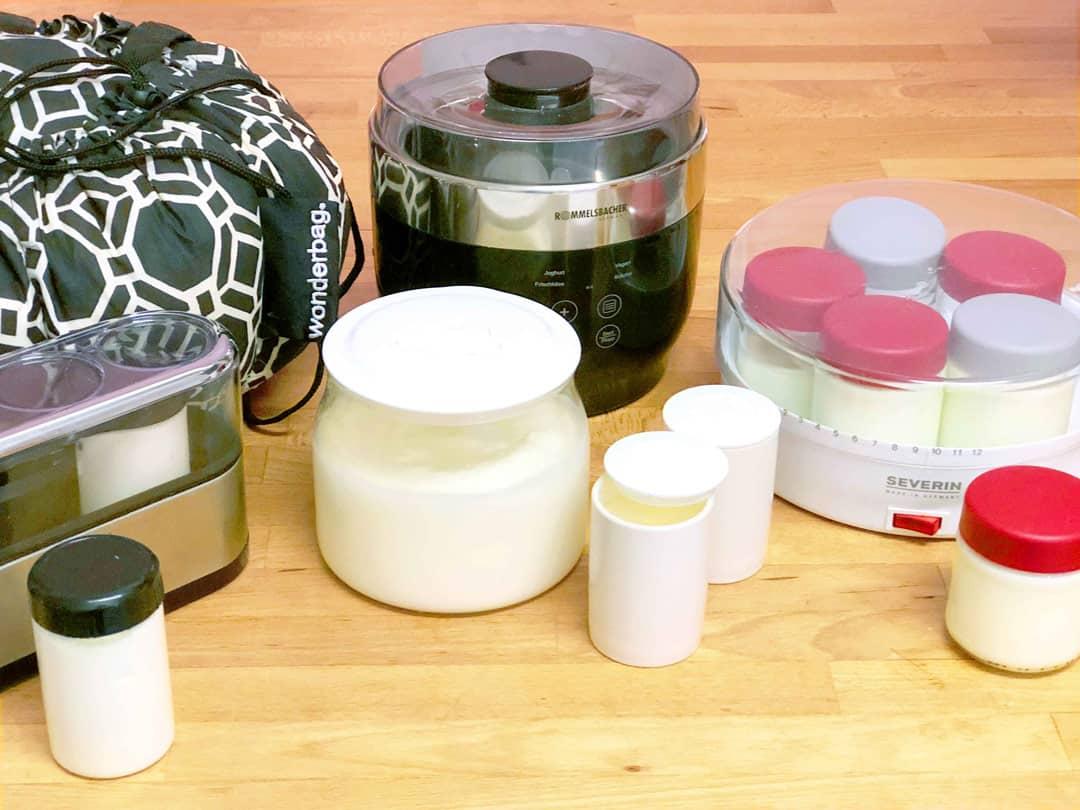 Joghurtbereiter Test mit Strom YOGUT Starterkulturen